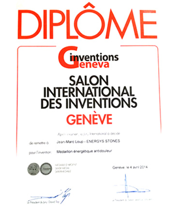 diplomes medaille prix energy's stones